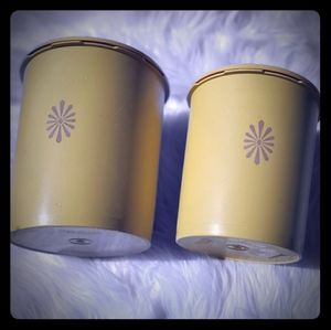 Tupperware Vintage 2 piece canister set